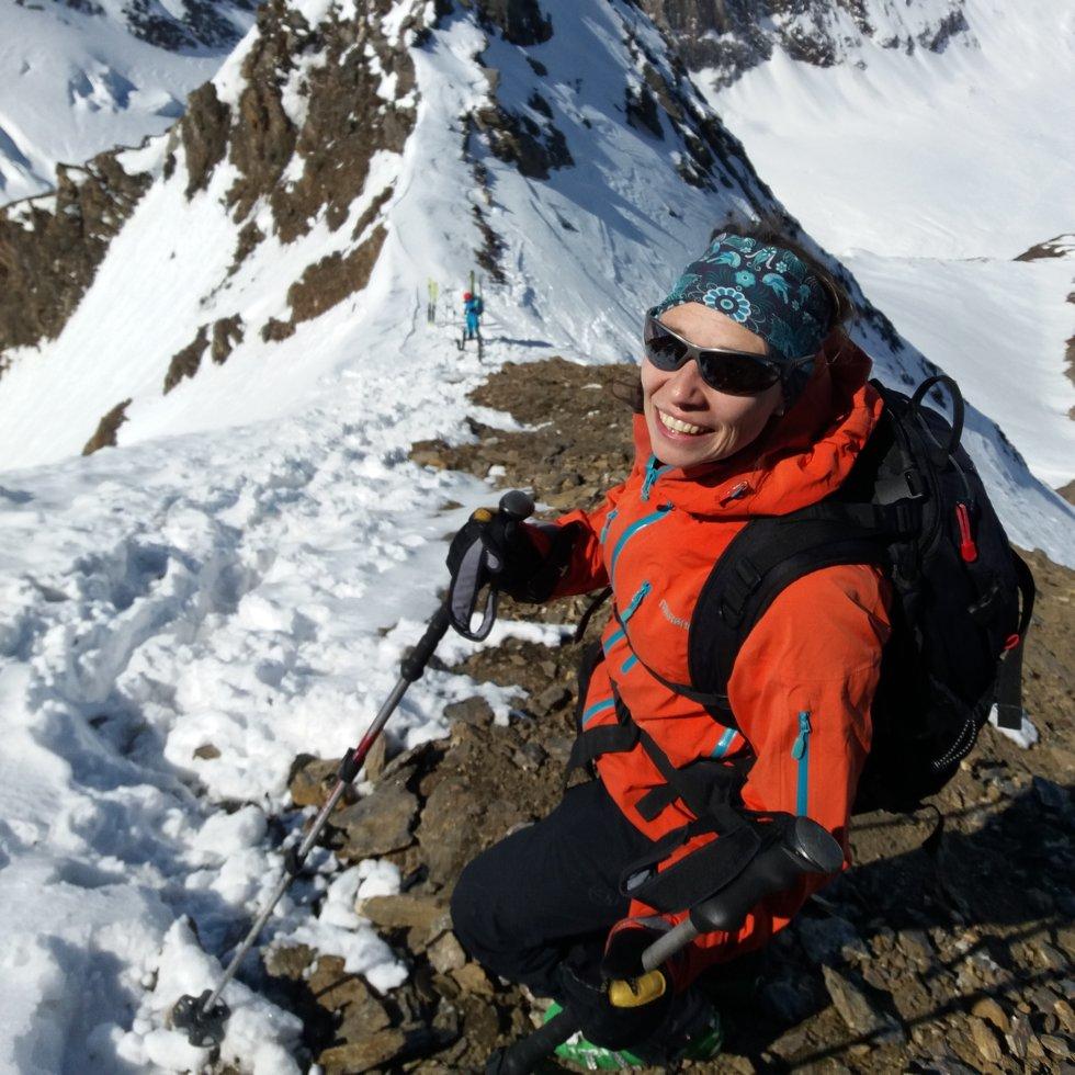Michaela Brugger beim Skifahren